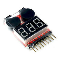 RC Lipo Battery Low Voltage Alarm 1S-8S Buzzer Indicator Checker Tester LED New.