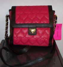 NWT BETSEY JOHNSON  TURNLOCK CROSSBODY  *BE MINE BERRY*