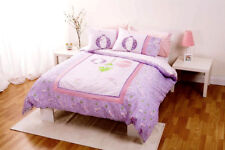 New Lanterns Oritental Lilac Blossoms SINGLE Quilt Doona Cover Set Emb. Sequin