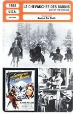 LA CHEVAUCHEE DES BANNIS - Ryan,Ives (Fiche Cinéma) 1958 - Day of the Outlaw