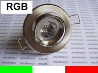 RGB FARETTO LED INCASSO 30° GU10 3W CAMBIACOLORE + TEL.