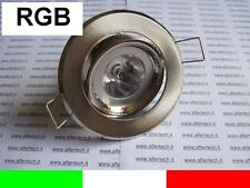 10x stock RGB FARETTO LED INCASSO 30° GU10 3W CAMBIACOLORE + TEL.