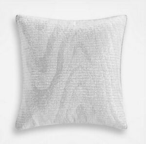"""Hotel Collection Moire White Sequin 18"""" x 18"""" Decorative Throw Pillow rt $135"""