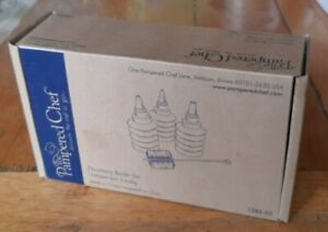 Brand New Pampered Chef Decorator 3 Bottle Set for Piping Decoration