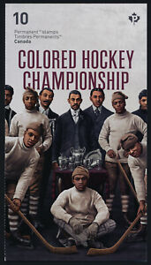 Canada 3233a Booklet MNH Black History Month, Colored Hockey Championship