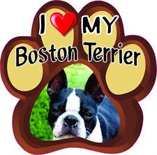 I LOVE MY Boston Terrier Bumper sticker PAW #261