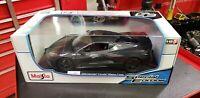 Maisto Special Edition 1:18 Scale Die-Cast Vehicle - Chevrolet Corvette C8 Gray