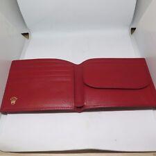 Genuine Vintage Rolex Red Leather wallet card & coins pockets Nos