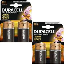 Duracell Plus Power D Type Alkaline Batteries Pack 4 -LR20, MN1300, MX1300, Mono