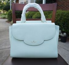 Kate Spade Leewood Place Makayla Scallop Satchel in Mint Splash Leather NEW