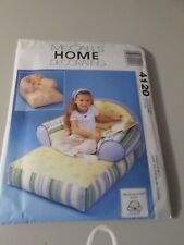 McCall's SEWING PATTERN # 4120 Home Decorating Kid's Chaise Lounge  NEW UNCUT