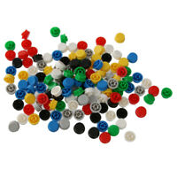 140pcs Round Button Caps Covers for Miniature Micro Switch PCB Mounted DIY
