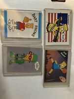 Bart Simpson Trading Cards Lot Of 4 Of Them!