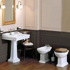 Sanitari tradizionali bagno classico wc copriwc bidet e lavabo Azzurra Giunone