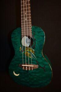 Luna Owl Concert Acoustic Electric Ukulele w/Gig Bag - Free Shipping!