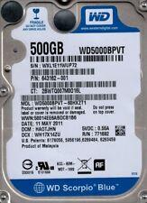Western Digital WD5000BPVT-60HXZT1 500GB DCM: HAOTJHN