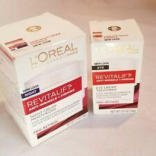 L'oreal Revitalift Anti-Wrinkle + Firming Face & Eye Moisturizer Cream Lot of 2