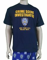 NYPD CSI New York Crime Scene Tee Investigation T-Shirt Navy