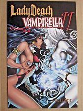 2000 CHAOS COMICS LADY DEATH/VAMPIRELLA 2 PREVIEW & REGULAR ISSUE LOT OF 2