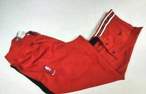 VINTAGE Nike Chicago Bulls Pants Adult Large Red Black Jordan Basketball Men