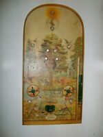 Vintage wooden board arcade game Pinball Hunter POOSH-M-UP 1955 USSR Kultprom