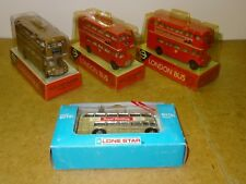 DINKY ? LONESTAR LOT OF 4 ROUTEMASTER buses