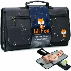 Portable Baby Changing Pad by Lil Fox Changing Pad for Baby Diaper Bag