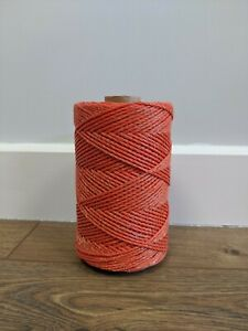 3mm 250m Orange Electric Fence Polywire Poly Wire Fencing - ECONOMY