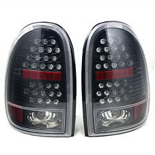 Tail Light For 98-03 Dodge Durango Glossy Black / Clear Lens PAIR