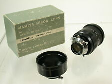 MAMIYA Press Sekor 5,6/150 150 150mm F5,6 Universal top OVP boxed  /15
