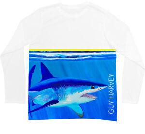 Guy Harvey Mako Stripe Pro UVX Long Sleeve Performance Shirt