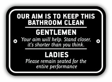 "Keep This Bathroom Clean Sign Car Bumper Sticker Decal 5"" x 4"""