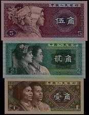 China 1980 Banknote 1 Jiao 2 Jiao 5 Jiao Unc 4Th Rmb 3 Pcs