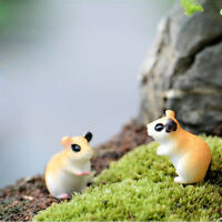 10x Miniature Hamster Dollhouse Figurine Bonsai Terrarium Landscape Decor
