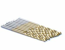 "10Pcs Pack 1/8"" HSS Titanium Coated Jobber Length Twist Drill Bit Metal Wood"