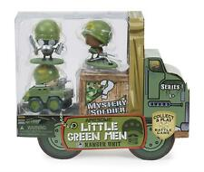 Awesome Little Green Men Soldiers - RANGER UNIT - 4 Figures - Battle Game  - NEW