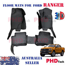 Premium Quality Tailored 3D Moulded car floor mats for Ford RANGER 2011-2018