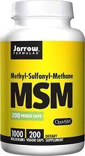 Jarrow Formulas MSM - Protein-Building Functions, 1000 mg, 200 Veggie Capsules