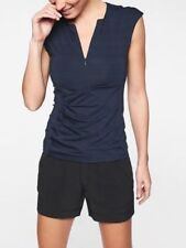 ATHLETA Pacifica Wrap Front Tank- Navy NWT $54 Sz S SMALL