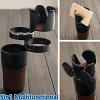 Cup Bottle Phone Storage Holder Organizer Kit 5In1 For Universal Car SUV Pickup
