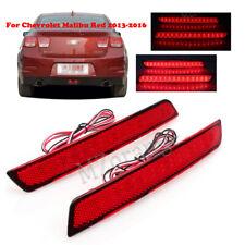 LED For Chevrolet Malibu Red 2013 14 15 2016 Brake Fog Lamp Rear Bumper Light 2X