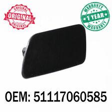 Black Front Left Bumper Headlight Washer Jet Nozzle Cover Cap For BMW 5 E60 E61