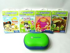 Leapfrog Leapster Hand Held Electronic Learning System Game Bundle -  - 4 Games