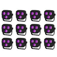12 Pack Sound Activated DJ Stage Light Par Uplighting Led RGBW DMX512 8CH