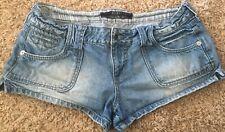 Hint Blue Jean Shorts Size 11 Denim Speckled Pockets Jrs.