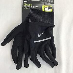 New Nike Sphere Gloves Running Dri Fit Black Men's S/M/L/XL