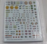 MONOGRAM 5122 B RACING SPONSOR LOGOS (150+) 1/32 WATER SLIDE DECAL 1 SHEET