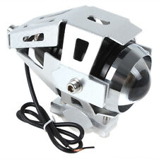 Silver Waterproof 3000LM 125W 12V-80V U5 CREE LED Motorcycle Fog Headlight Light