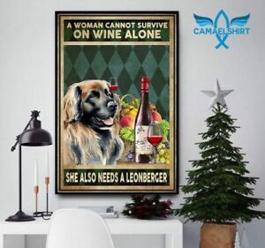 Woman also needs a leonberger vertical poster