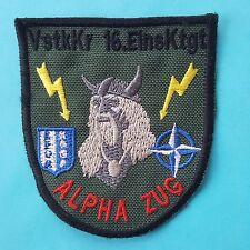German Germany NATO KFOR 16. Einsatzkontingent ALPHA ZUG Army Sewing Badge Patch